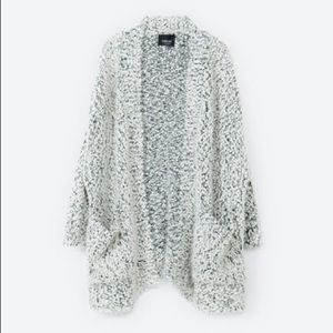 Two tone boucle cardigan from Zara